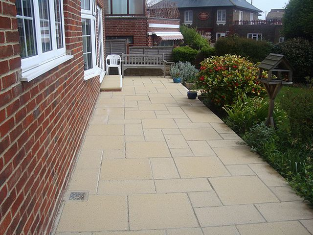 Patio With Slabbing Mansfield: Swipe To View More Images
